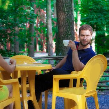 """""""Дрова"""". Кафе в лесу. Орел, парк-отель """"Мечта"""""""