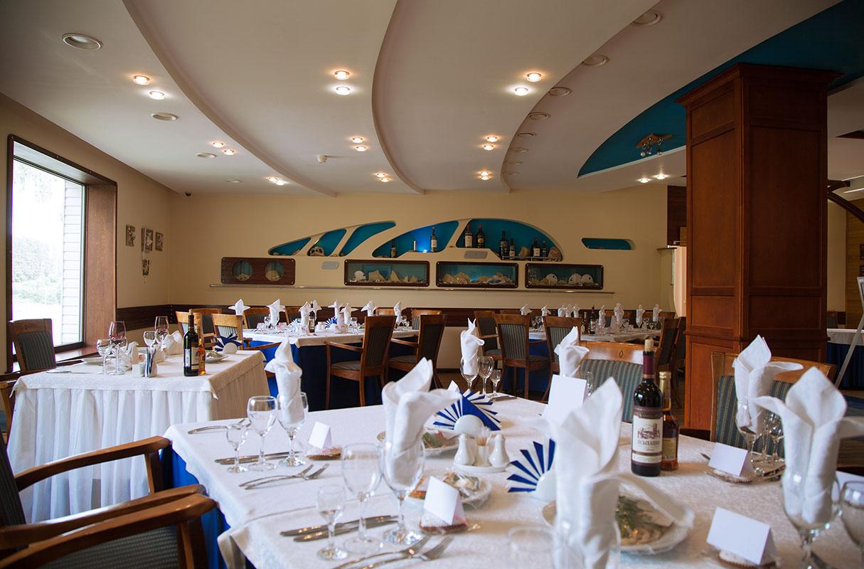 Ресторан парк-отеля Мечта в Орле. Синий зал