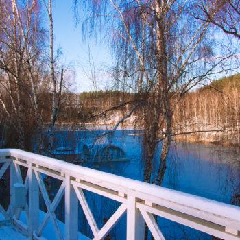 Парк-отель Мечта. Озеро. Зима